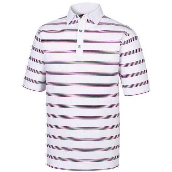 FootJoy Men's Stretch Lisle Open Stripe Self Collar Polo