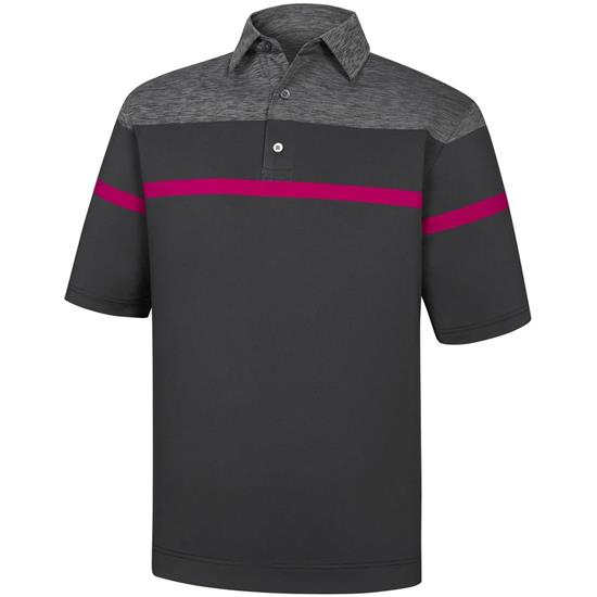 FootJoy Men's Stretch Lisle Space Dye Yoke Self Collar Polo