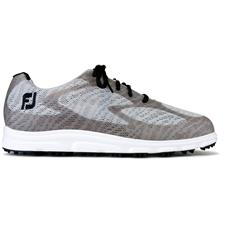 FootJoy Light Grey-Black-White Superlites XP Previous Season Golf Shoes
