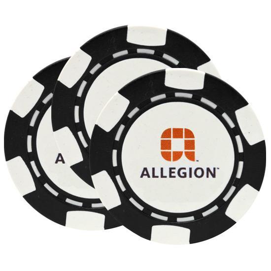 Golfballs.com 6-Stripe Overrun Poker Chip Ball Marker - 3 Pack