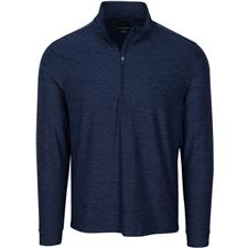 Greg Norman Men's Heathered 1/2 Zip Mock