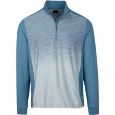 Greg Norman Men's Heathered Long Sleeve 1/4-Zip Mock