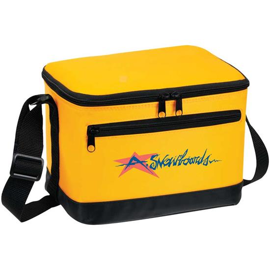 Logo Deluxe 6 Can Soft Side Cooler