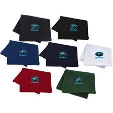 Logo Custom Logo Imprinted Promo Fleece Blanket
