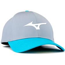 Mizuno Men's Runbird Snapback Personalized Hat - Grey-Blue