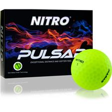 Nitro Pulsar Matte Finish Yellow Golf Balls