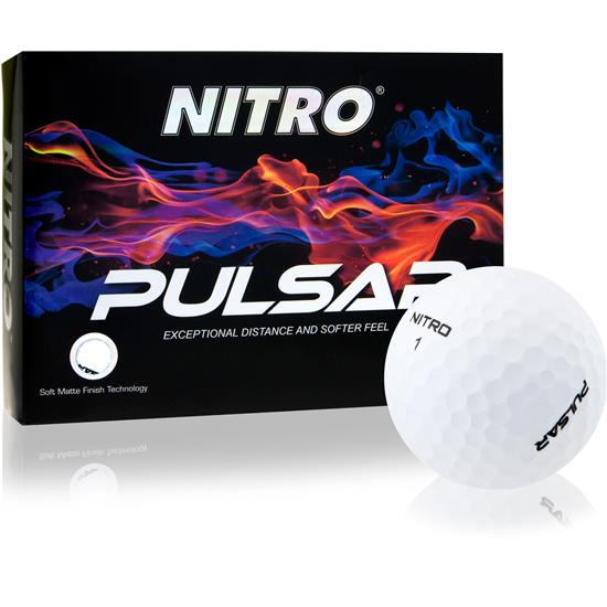 Nitro Pulsar Matte Finish Golf Balls