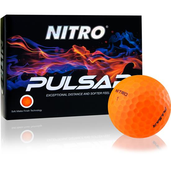 Nitro Pulsar Matte Finish Orange Golf Balls