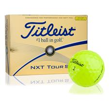 Titleist NXT Tour S Yellow Logo Overrun Golf Balls