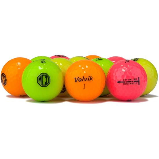 Volvik Crystal Multi-Color Golf Balls