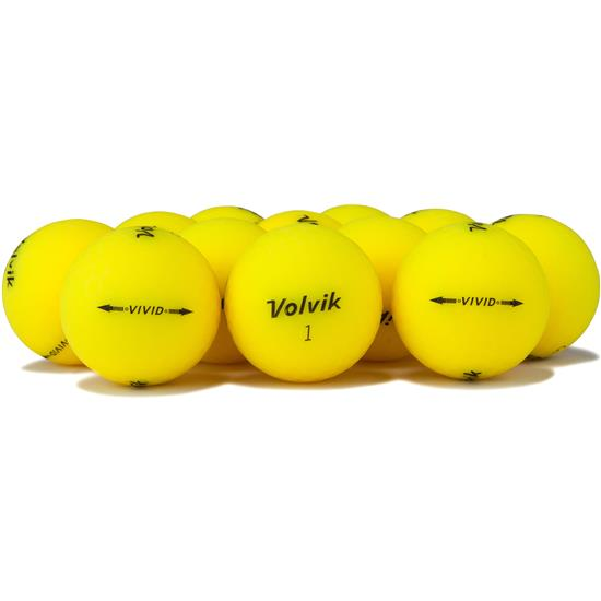 Volvik Vivid Matte Yellow Golf Balls