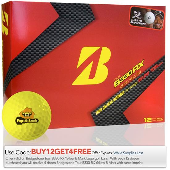 Bridgestone Tour B330-RX Yellow B Mark Golf Ball