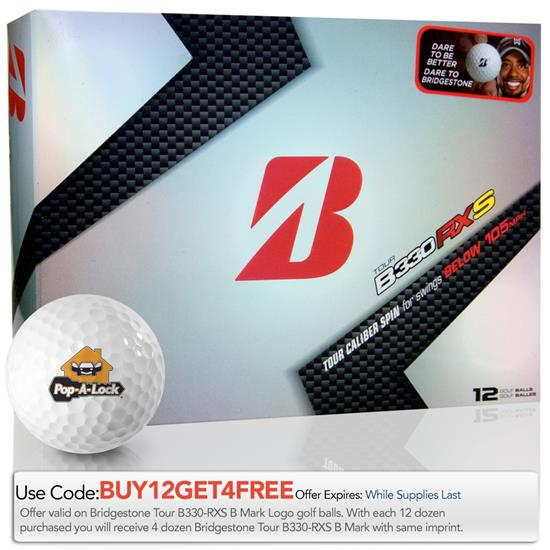 Bridgestone Tour B330-RXS B Mark Custom Logo Golf Ball