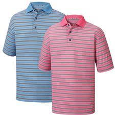 FootJoy Men's Heather Lisle Stripe Knit Collar Prior Season Polo