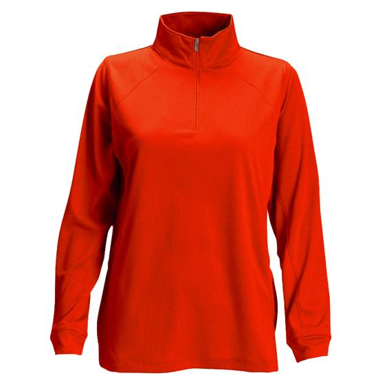 Logo Vansport Mesh 1/4-Zip Tech Pullover for Women