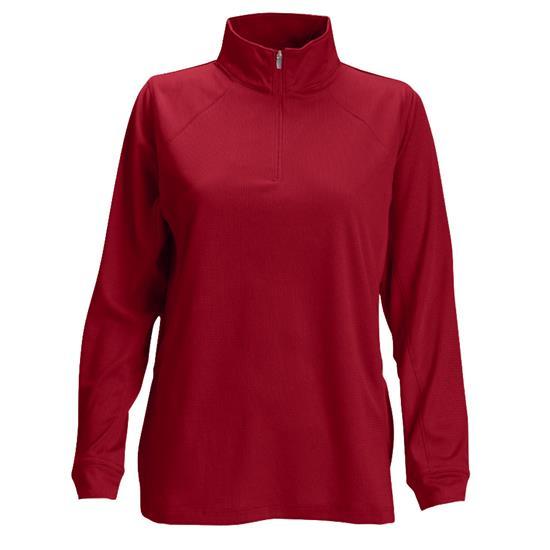 Logo Vansport Mesh 1/4-Zip Tech Pullover for Women