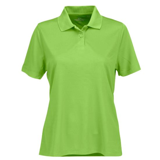 Logo Vansport Omega Solid Mesh Polo for Women