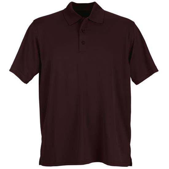Logo Men's Vansport Omega Solid Mesh Polo
