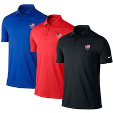 Nike Men's Victory Solid Polo - USA Flag Olympic Logo