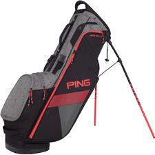 PING Hoofer Lite Personalized Carry Bag - Black-Silver Spray-Electric Crimson