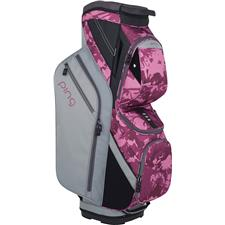 PING Traverse Personalized Cart Bag for Women - Silver-Magenta Bloom