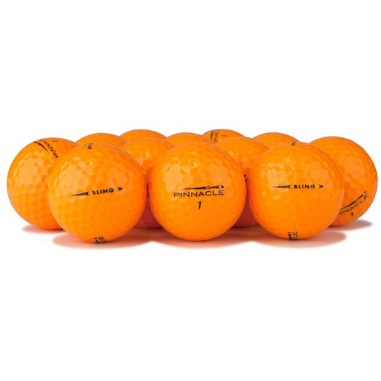 Pinnacle Bling Neon Orange Golf Balls