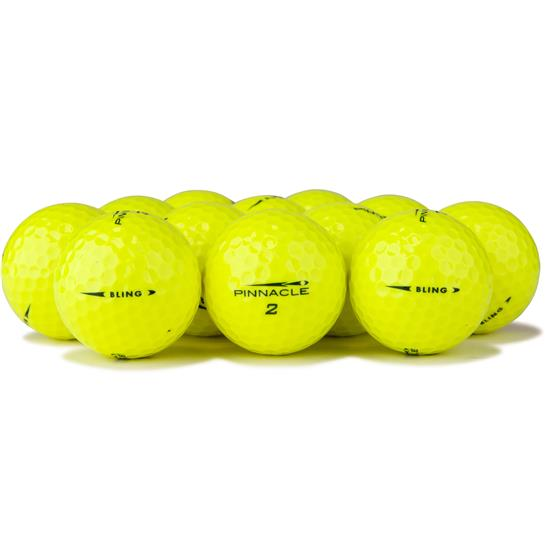 Pinnacle Bling Yellow Logo Overrun Golf Balls
