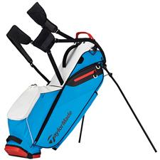 Taylor Made Flextech Lite Personalized Stand Bag - White-Blue-Red