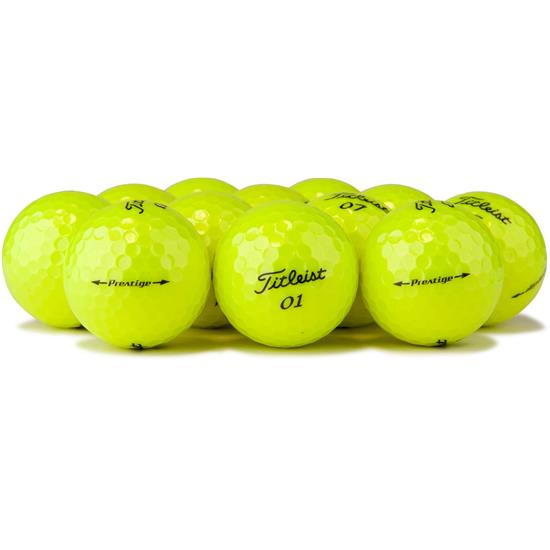 Titleist Prestige Yellow Logo Overrun Golf Balls