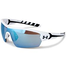 Under Armour UA Rival Sunglasses - Satin White-Black Frame - Tuned Baseball Lenses