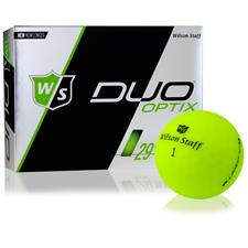 Wilson Staff Duo Soft Optix Matte Green Personalized Golf Balls