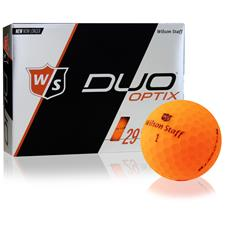 Wilson Staff Duo Soft Optix Matte Orange Personalized Golf Balls