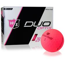 Wilson Staff Duo Optix Matte Pink Custom Logo Golf BallsSoft