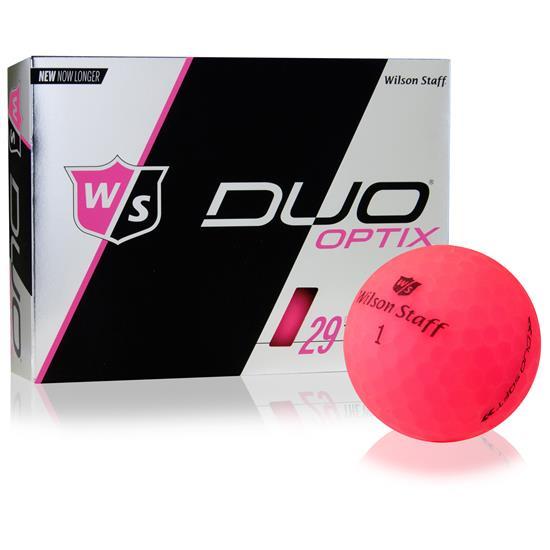 Wilson Staff Duo Soft Optix Matte Pink Golf Balls