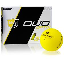 Wilson Staff Duo Soft Optix Matte Yellow Personalized Golf Ball