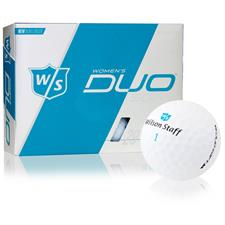 Wilson Staff ID-Align Duo Soft Optix Matte White Golf Balls for Women