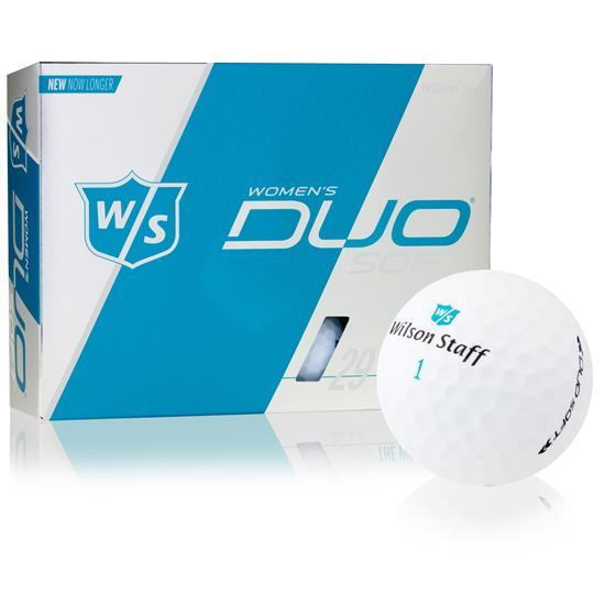 Wilson Staff Duo Soft Optix Matte White Golf Balls for Women