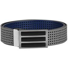 Adidas 3-Stripes Perforated Reversible Belt - Grey Three - One Size Fits Most