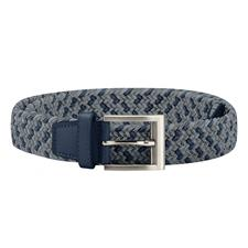 Adidas Braided Weave Stretch Belt - Collegiate Navy-Grey Three - Large/X-Large