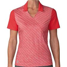 Adidas Real Coral Crossover Novelty Short Sleeve Polo for Women