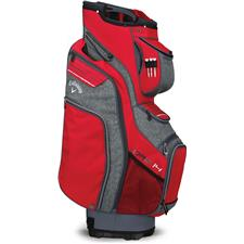 Callaway Golf Org 14 Cart Bag - Red-Titanium-White