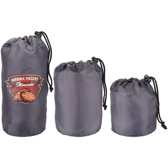 Logo BRIGHTtravels Set of 3 Mini Stuffer Sacks