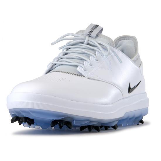 6933982f6b5b Nike Men s Air Zoom Direct Golf Shoes - White-Black-Metallic Silver - 13  Medium Golfballs.com
