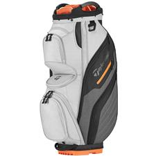 Taylor Made Supreme Personalized Cart Bag - Gray-Orange