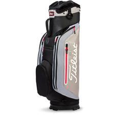 Titleist Club 7 Cart Bag - Black-Soapstone-Silver