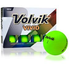 Volvik Vivid Matte Green Personalized Golf Balls