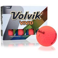 Volvik Vivid Matte Pink Golf Balls