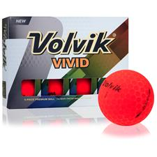 Volvik Custom Logo Vivid Matte Red Golf Balls