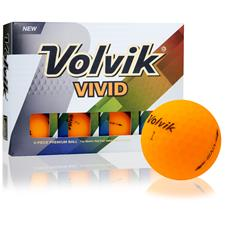 Volvik Vivid Matte Sherbet Orange Custom Logo Golf Balls