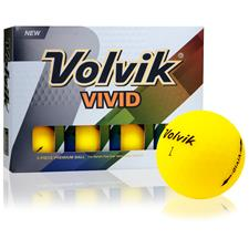 Volvik Vivid Matte Yellow Personalized Golf Balls